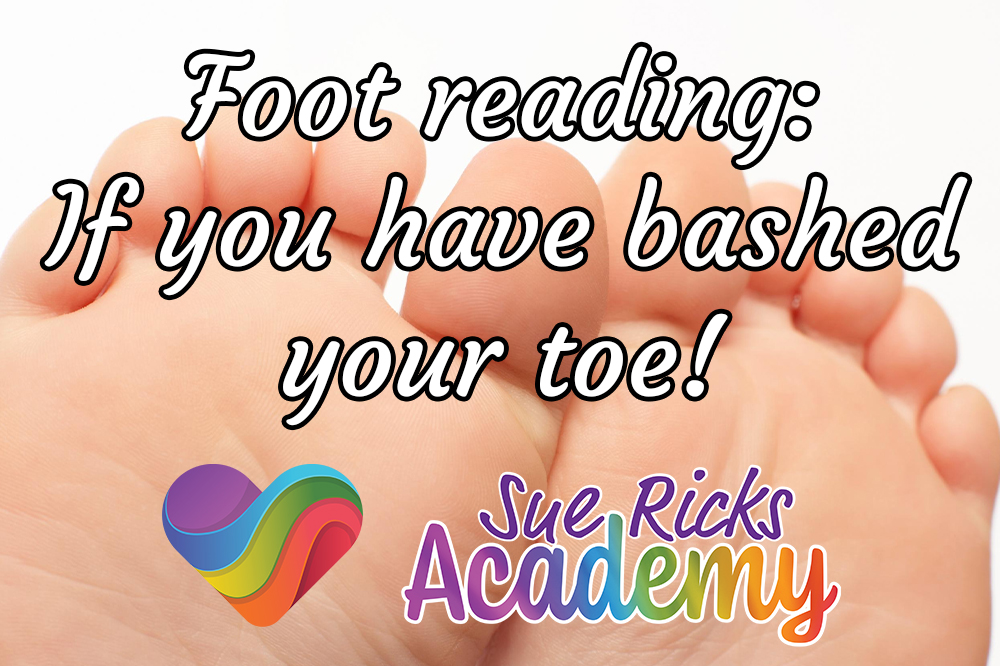 Foot reading - If you have bashed your toe!