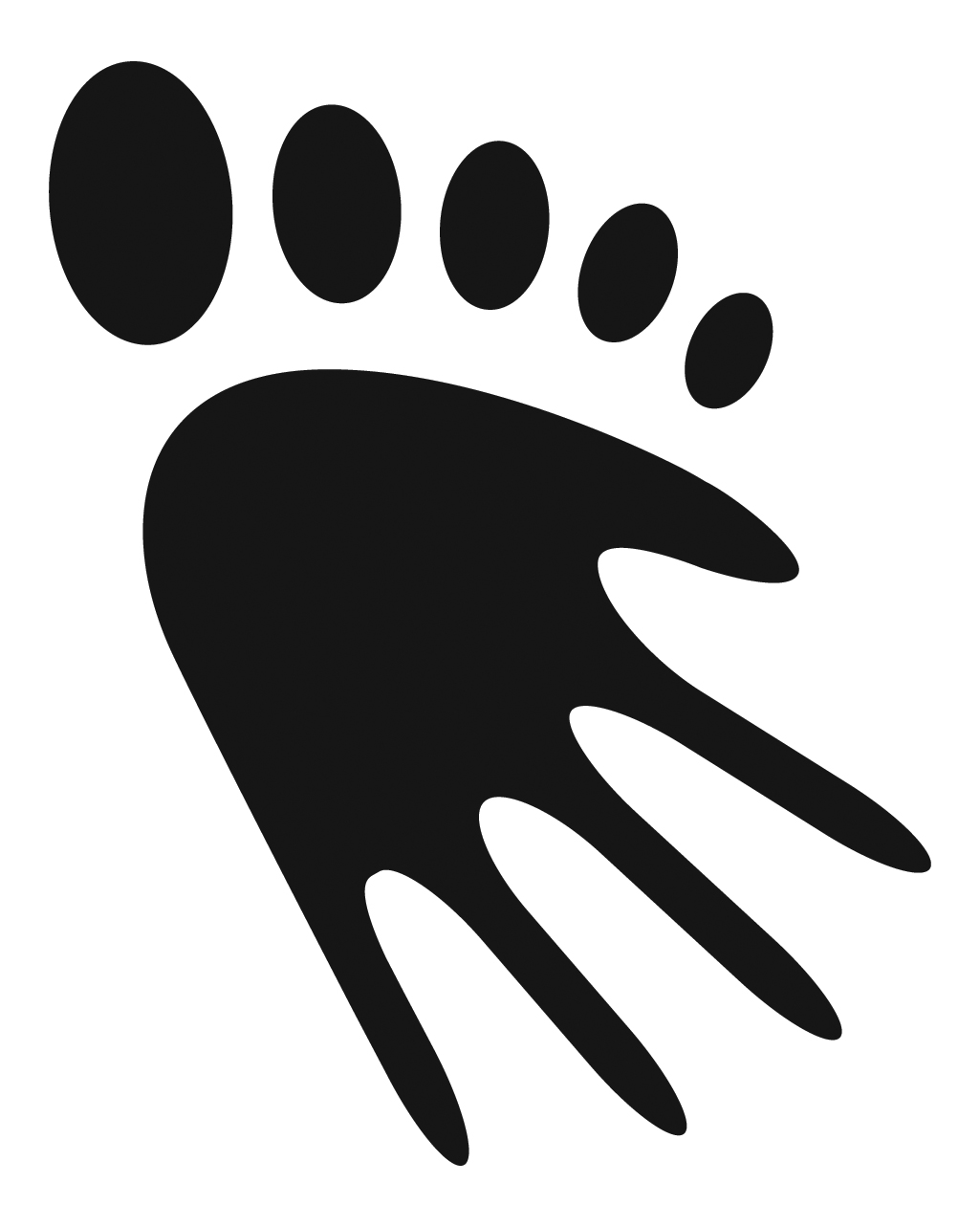 Hands Foot Logo - Registered Trademark Logo of Sue Ricks