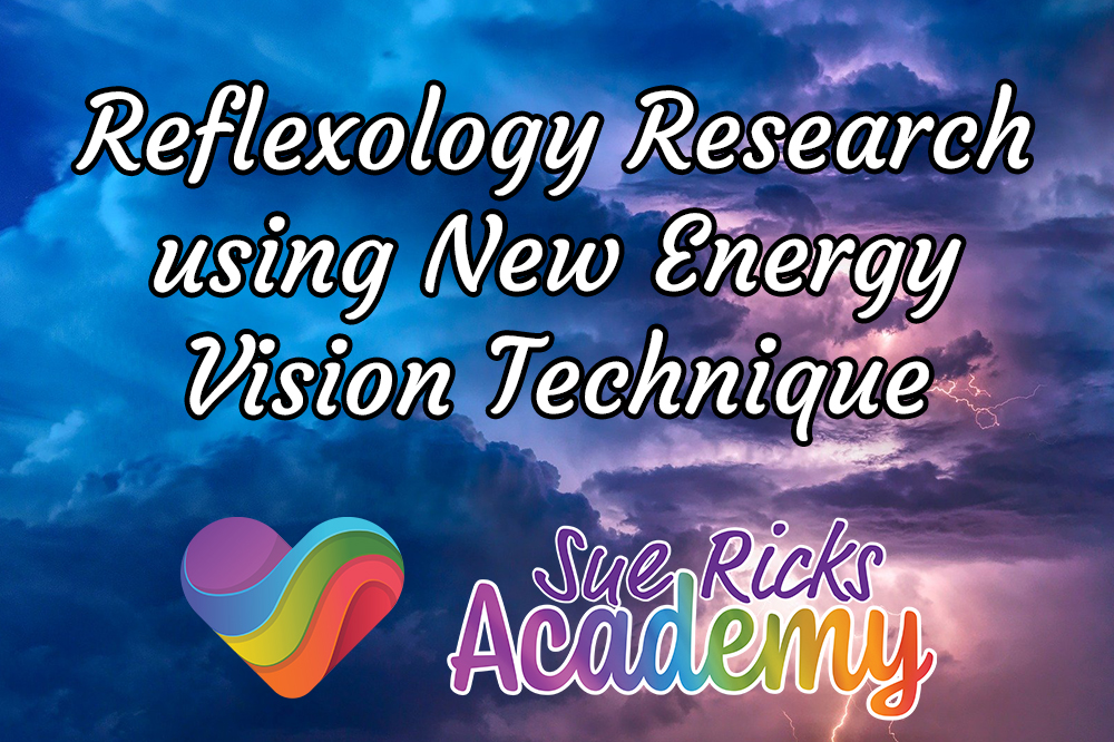 Reflexology research using New Energy Vision Technique